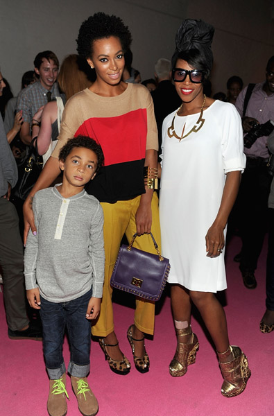 Juelz, Solange and June Ambrose