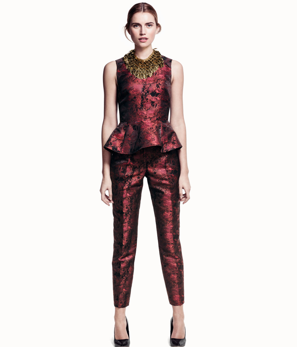 Ankle-length trousers, £34.99; Top £29.99, H&M