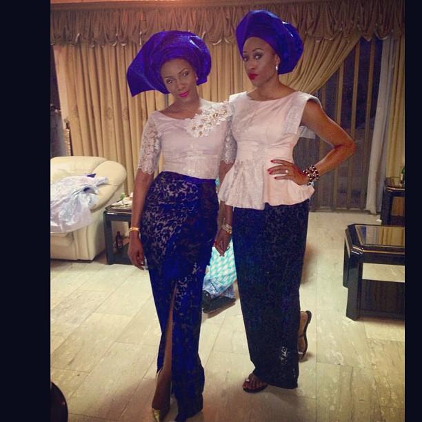 Genevieve Nnaji in native wear