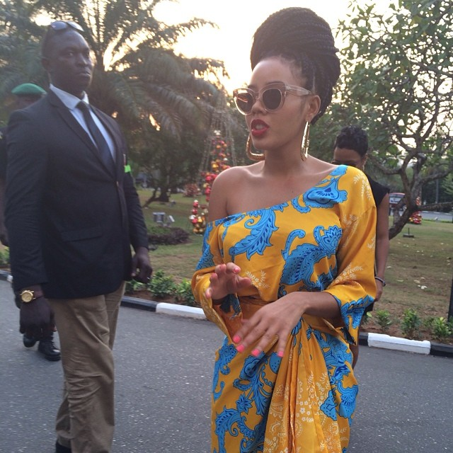angela simmons in nigeria in ankara