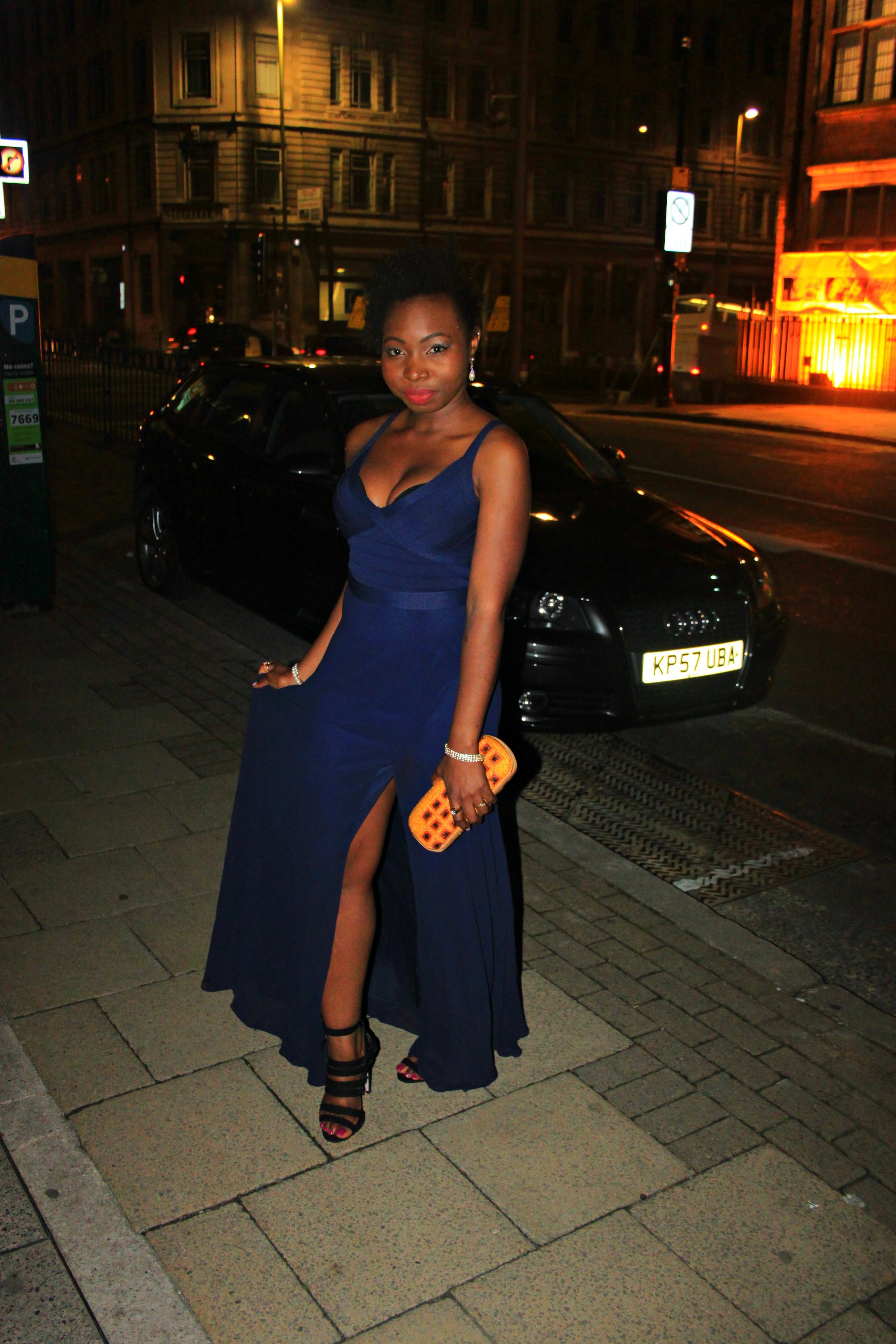 lipsy blue bandage dress
