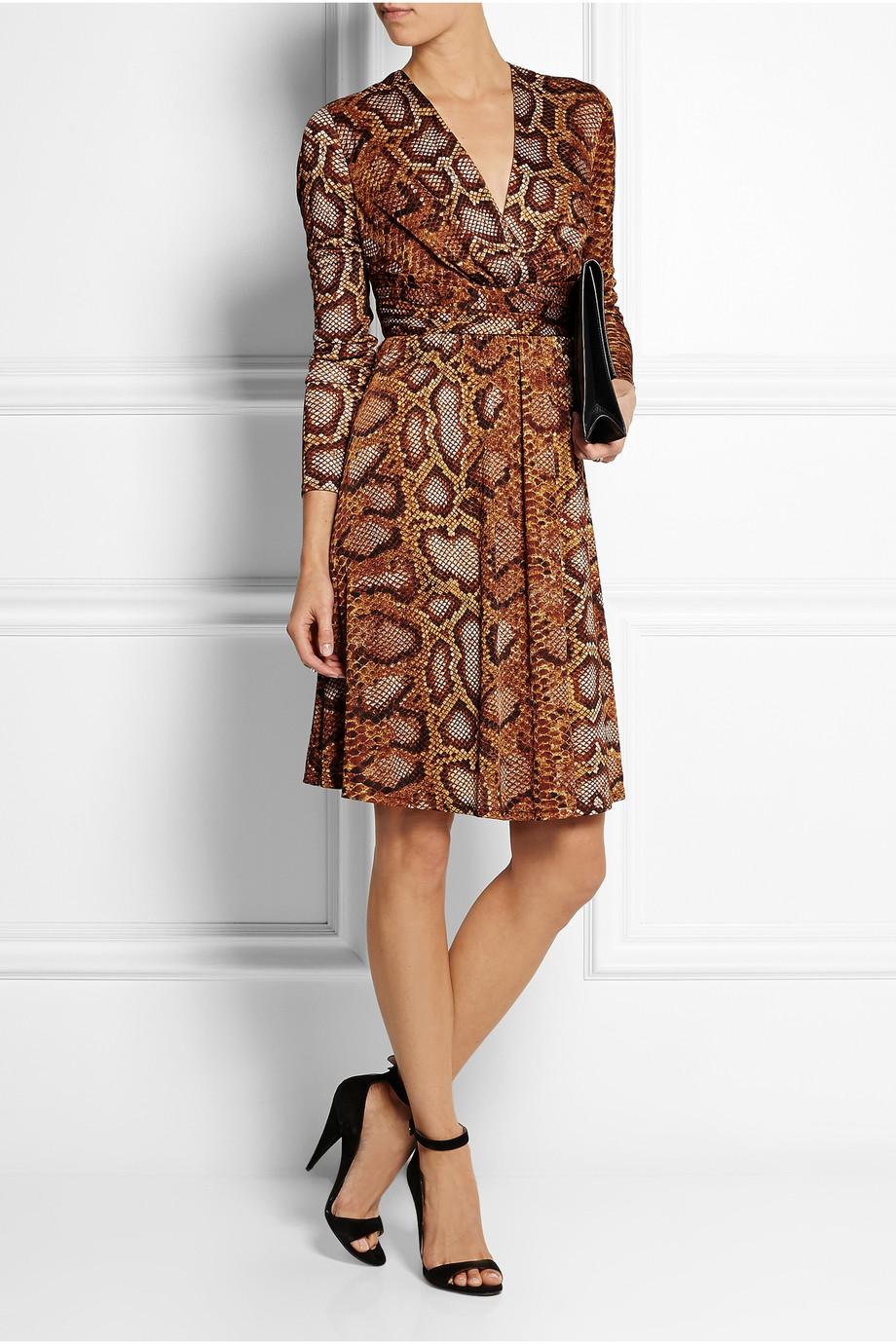 Python-print satin-jersey dress, £45