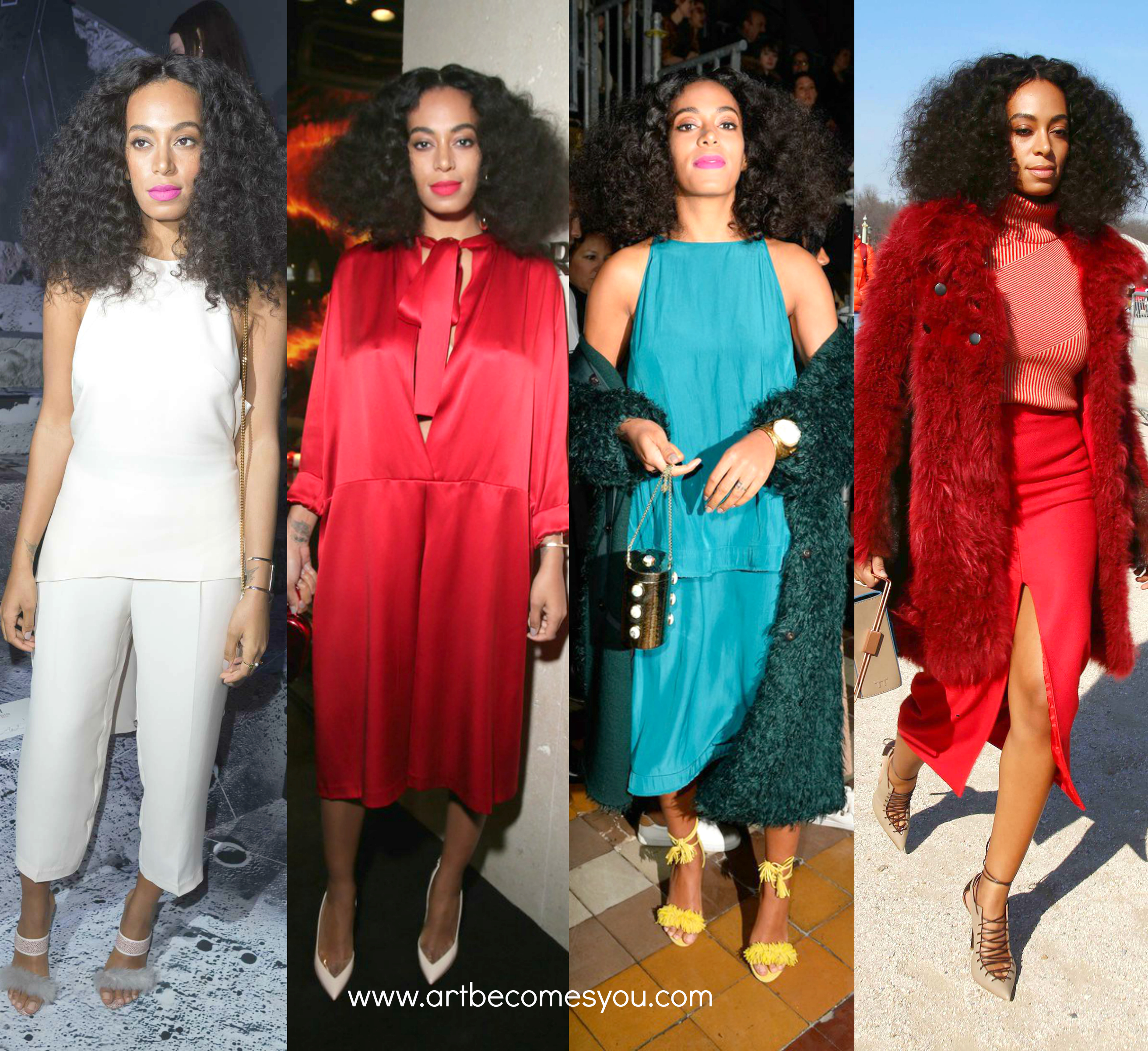 4 looks 1 girl fashion week paris solange knowles 2015