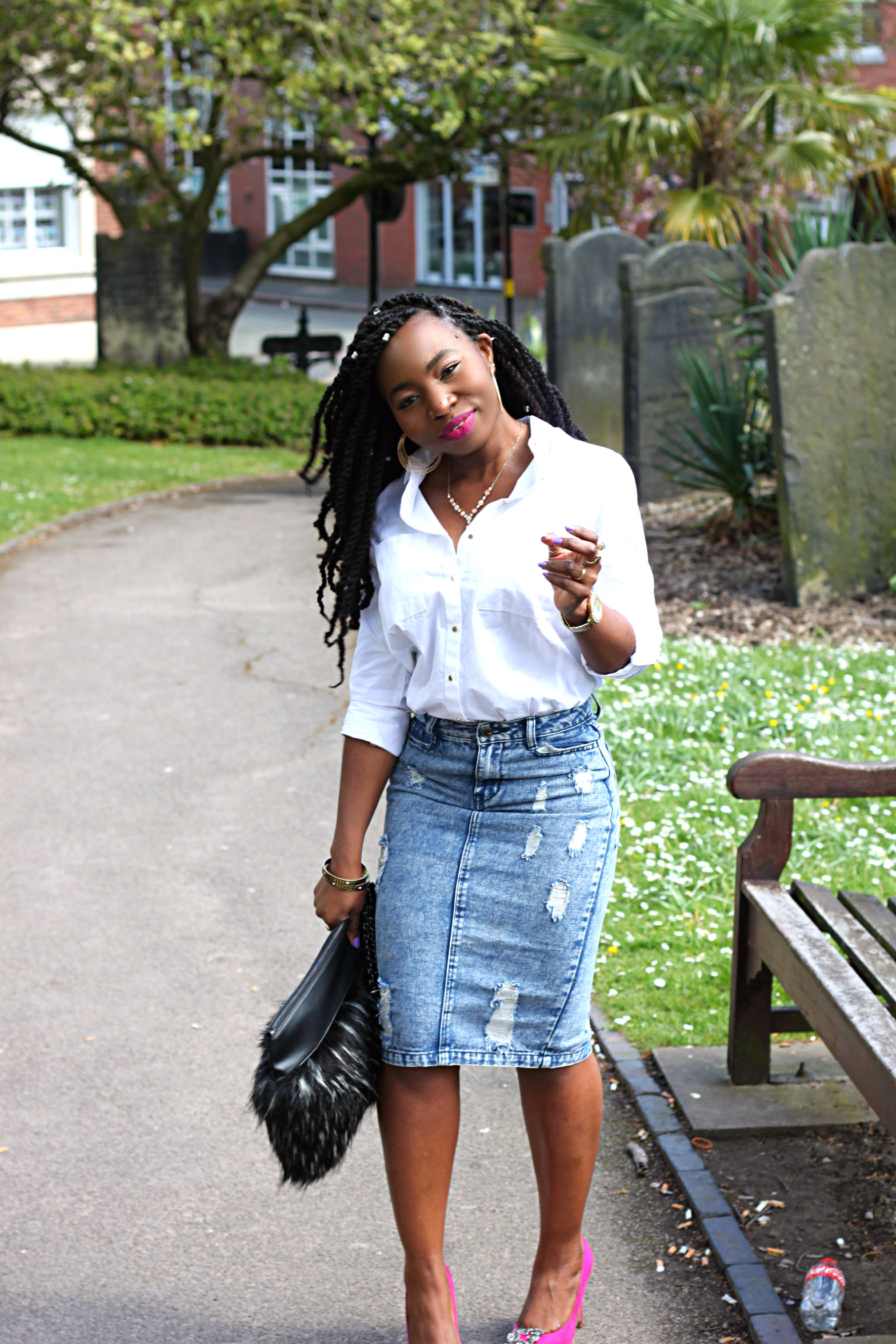 denim skirt 964