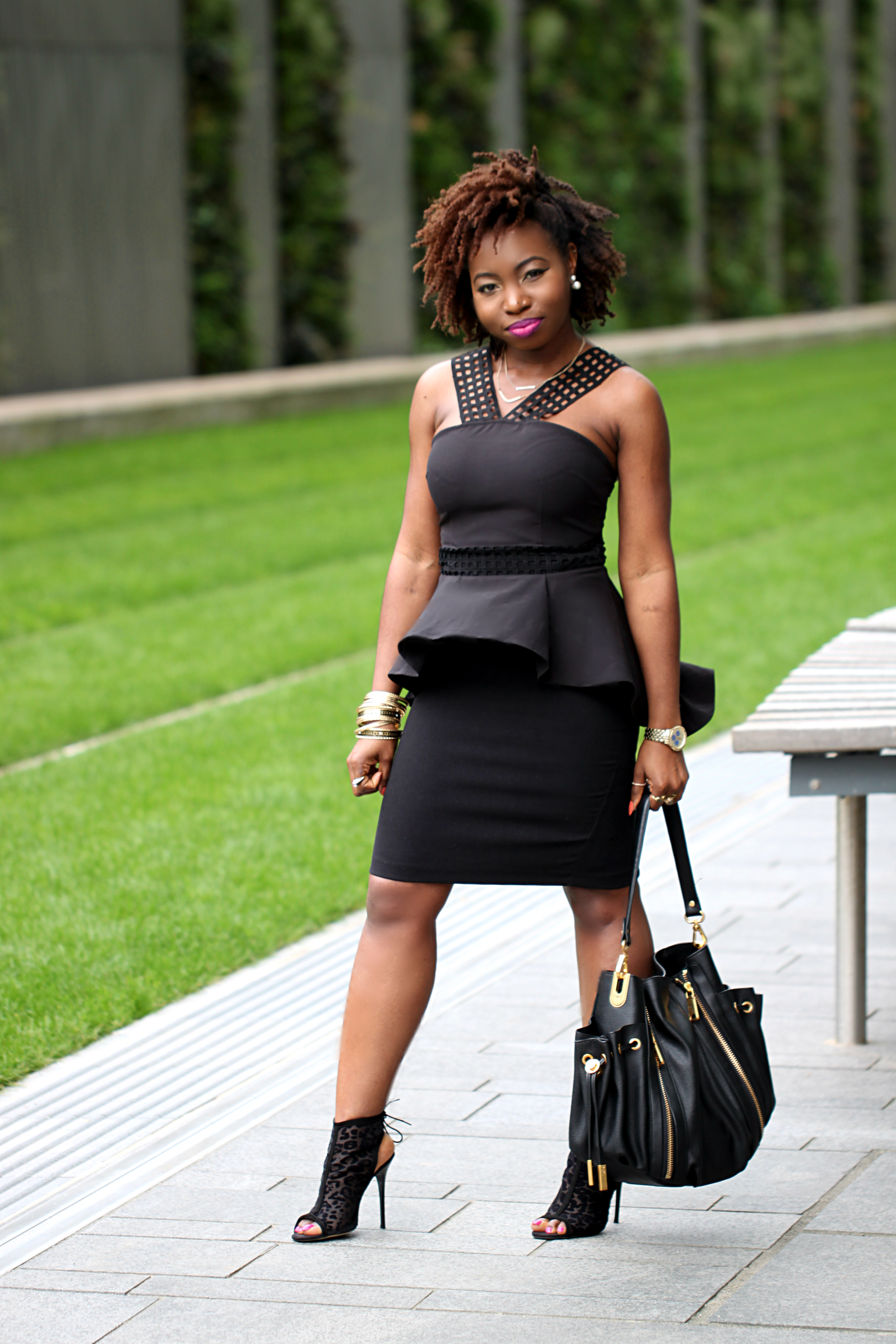 back to black look of the day