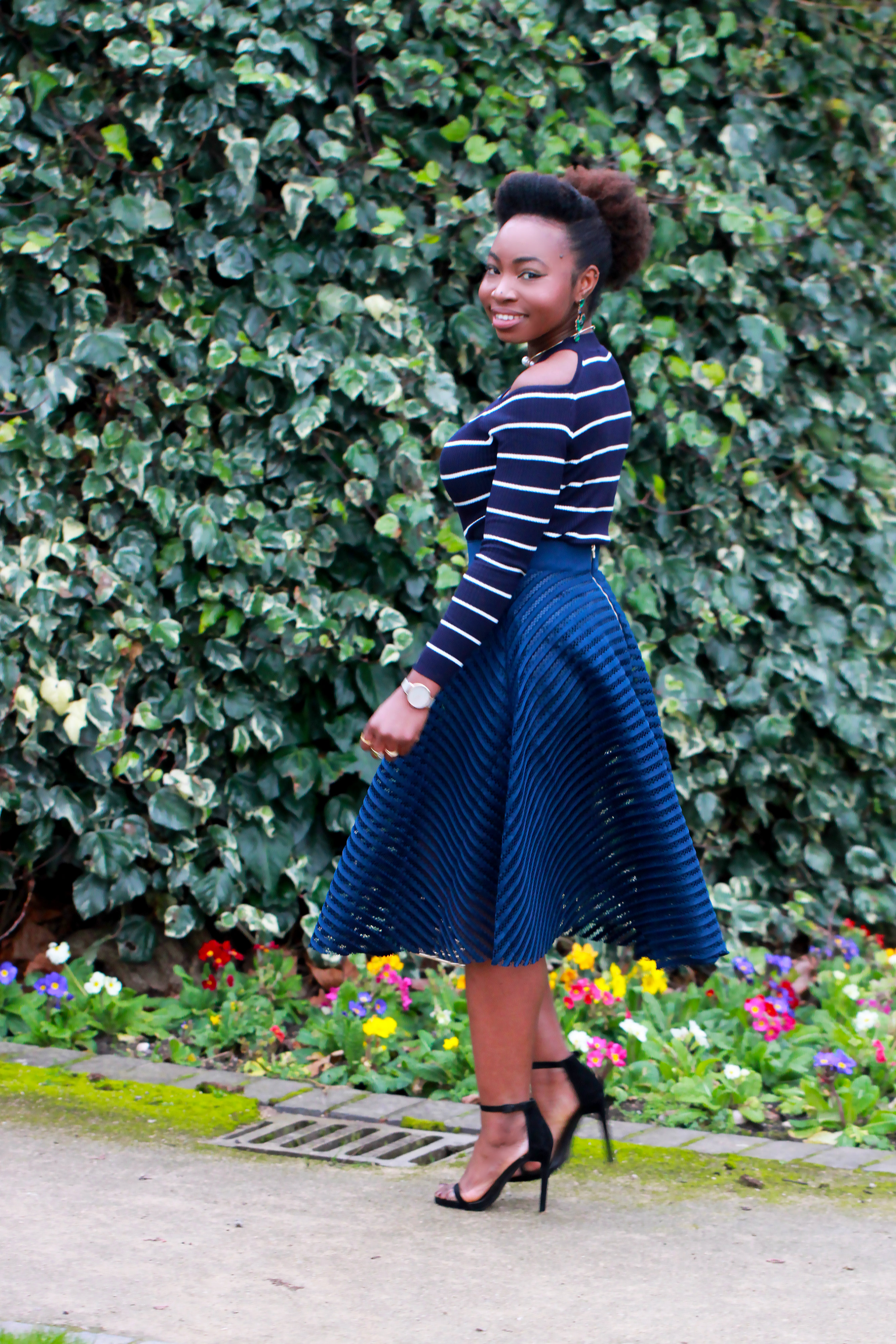 stripes overlay skirt new look jumper a